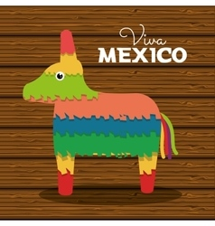Donkey pinata mexican carnival design vector
