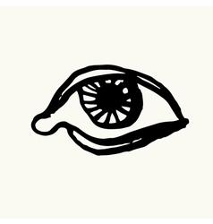 Eye Sketch Hand-drawn vector image vector image