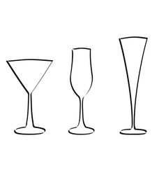 Glass silhouette vector
