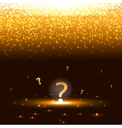 Glowing question mark with sparks vector image