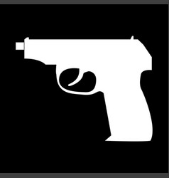 hand gun it is icon vector image