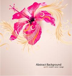 Hibiscus flower background vector