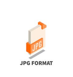 image file format jpg icon symbol vector image