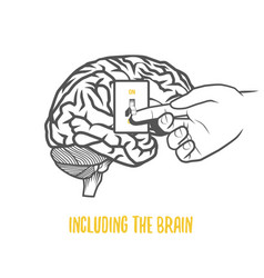including the brain vector image