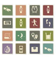 Jogging icon set vector