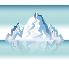 Landscape snowy mountain design vector