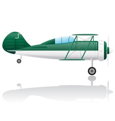 Old retro airplane vector