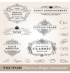 Ornament frames set vector