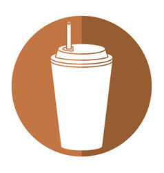 Paper cup coffee shadow vector
