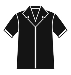 Shirt polo icon simple style vector