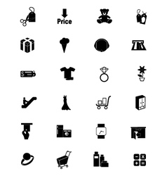 Shopping Solid Icons 5 vector image vector image