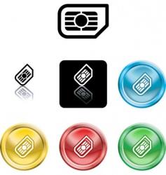 sim card icon symbol vector image vector image