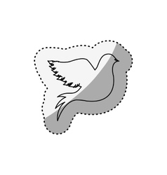 sticker of silhouette pigeon logo design vector image