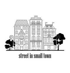 Street in small town vector