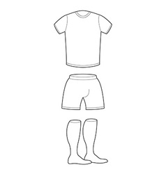 T-shirt shorts and socks template for design vector