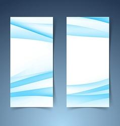 Vertical halftone gradient blue banner set vector image