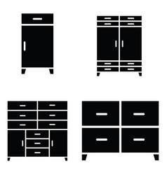 wardrobe icon set vector image