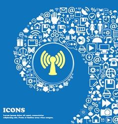 Wi-fi internet sign symbol Nice set of beautiful vector image