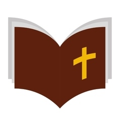 Holy bible isolated icon vector
