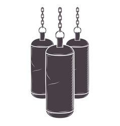 Chains hanging a bag weights vector