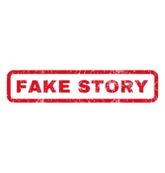 Fake Story Rubber Stamp vector image