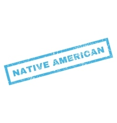 Native american rubber stamp vector