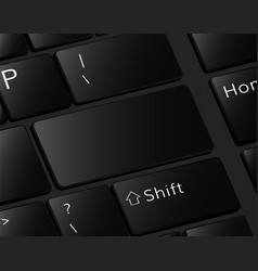 Keyboard buttons template empty enter vector