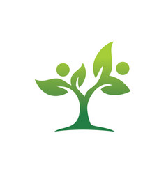 Tree green leaves and ecology logo vector