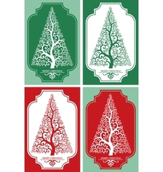 Greeting Card Merry Christmas vector image