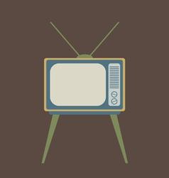 Flat Design Vintage TV vector image