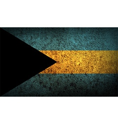 Flag of bahamas with old texture vector