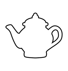 Tea maker line vector