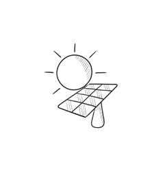 Solar energy sketch icon vector image