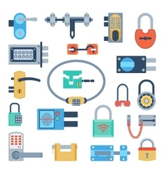 Lock icons set vector
