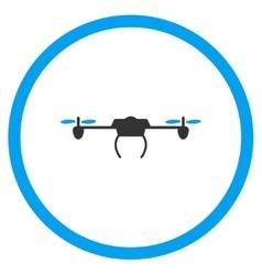 Air nanocopter icon vector