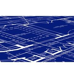 Blueprint of floor plan vector