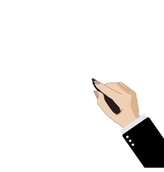 Business woman s hand with marker on white vector image
