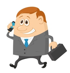 businessman with suitcase vector image vector image