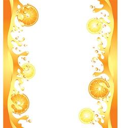 citrus splash frame vector image vector image