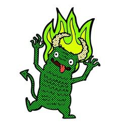 Comic cartoon demon vector