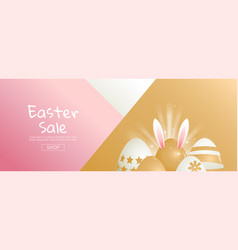 Easter sale bright sweet fashion style pop art vector