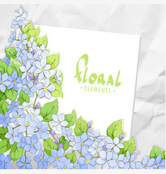 floral card template vector image vector image