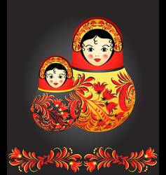matryoshka dolls vector image