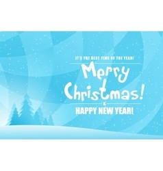 Merry Christmas Landscape vector image vector image