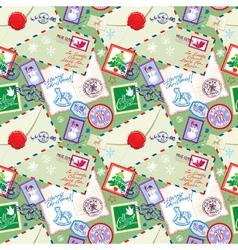 Post stamp xmas seamless 2 380 vector