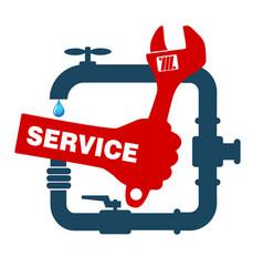 repair plumbing and sanitary ware vector image