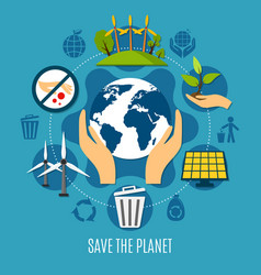 save the planet concept vector image