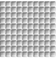 seamless waffle graphic pattern - black and white vector image vector image