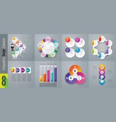 Set of infographics design vector