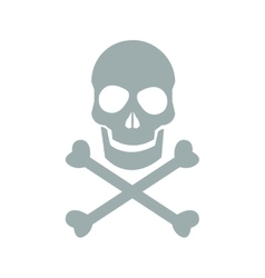 skull danger icon vector image vector image